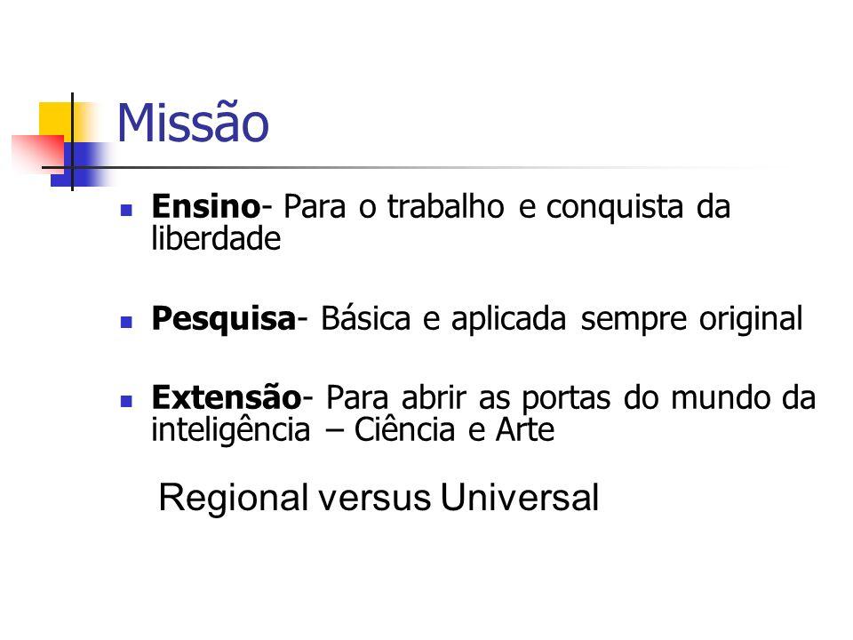 Missão Regional versus Universal