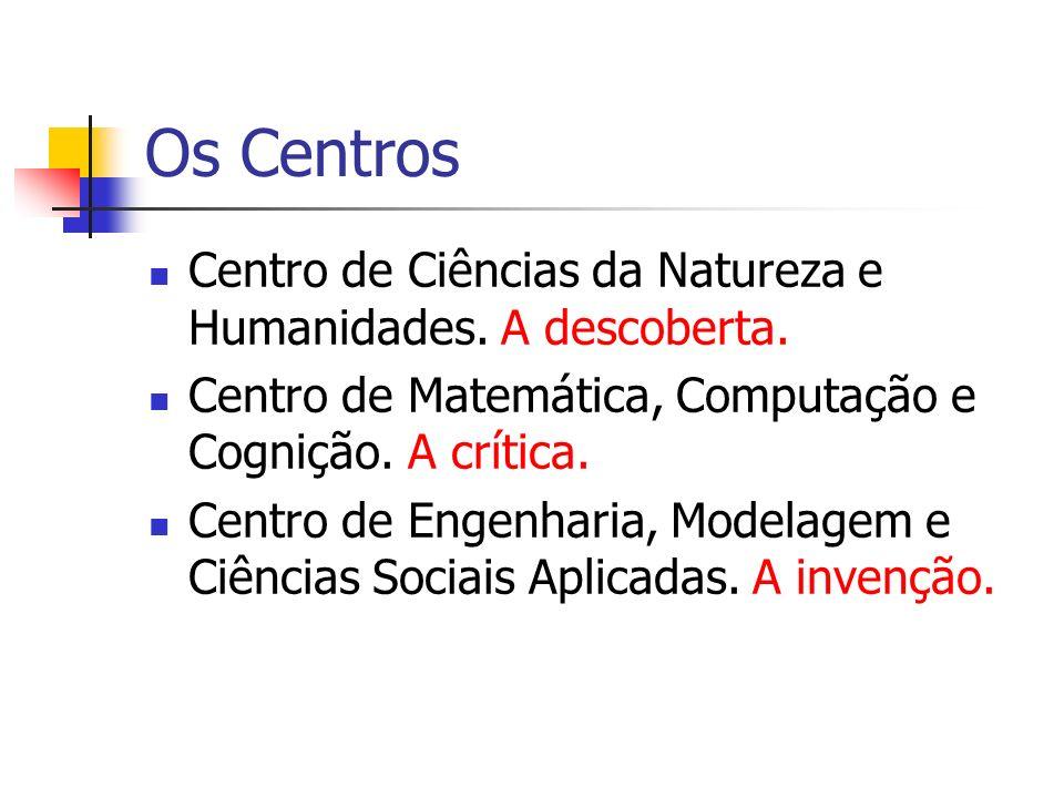 Os Centros Centro de Ciências da Natureza e Humanidades. A descoberta.