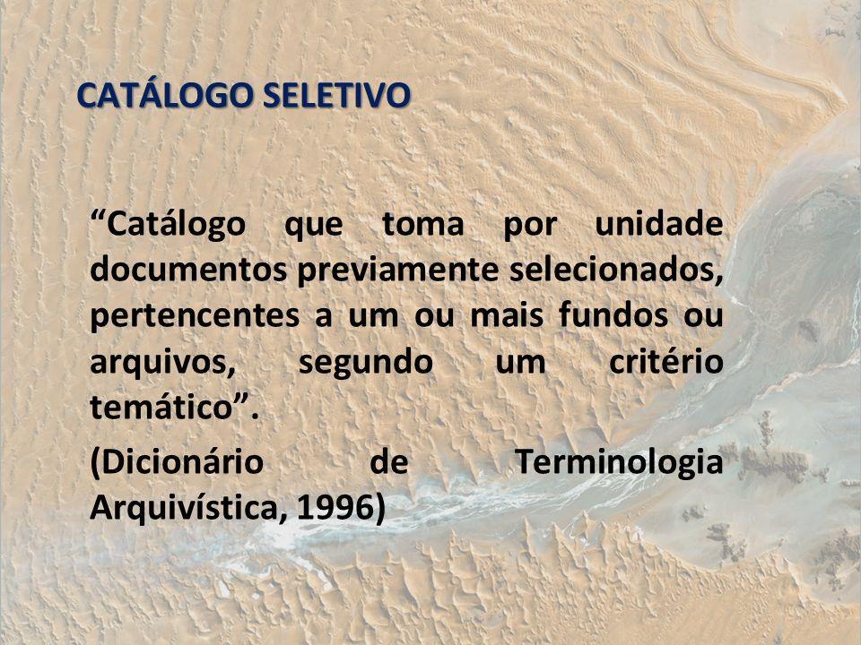 CATÁLOGO SELETIVO