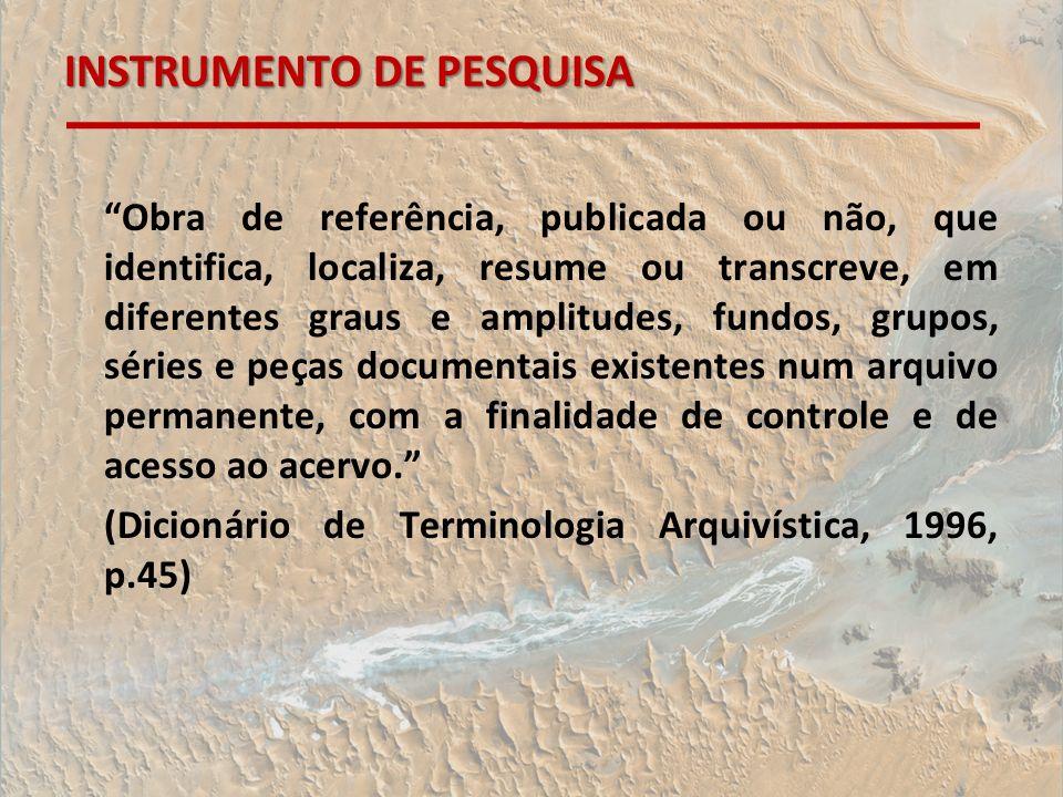 INSTRUMENTO DE PESQUISA