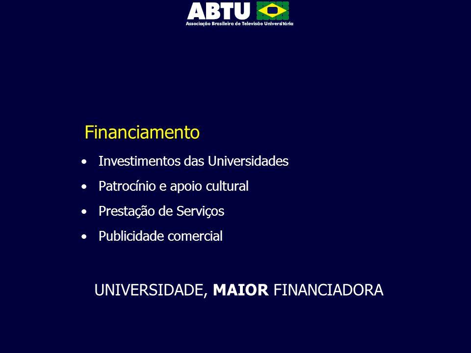 UNIVERSIDADE, MAIOR FINANCIADORA