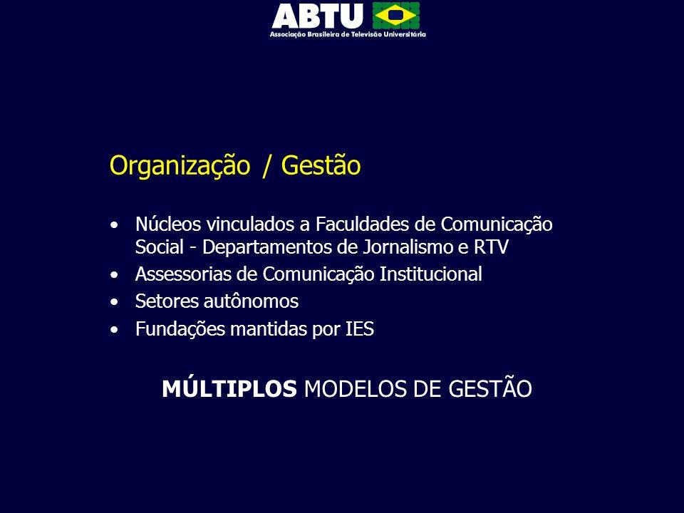 MÚLTIPLOS MODELOS DE GESTÃO