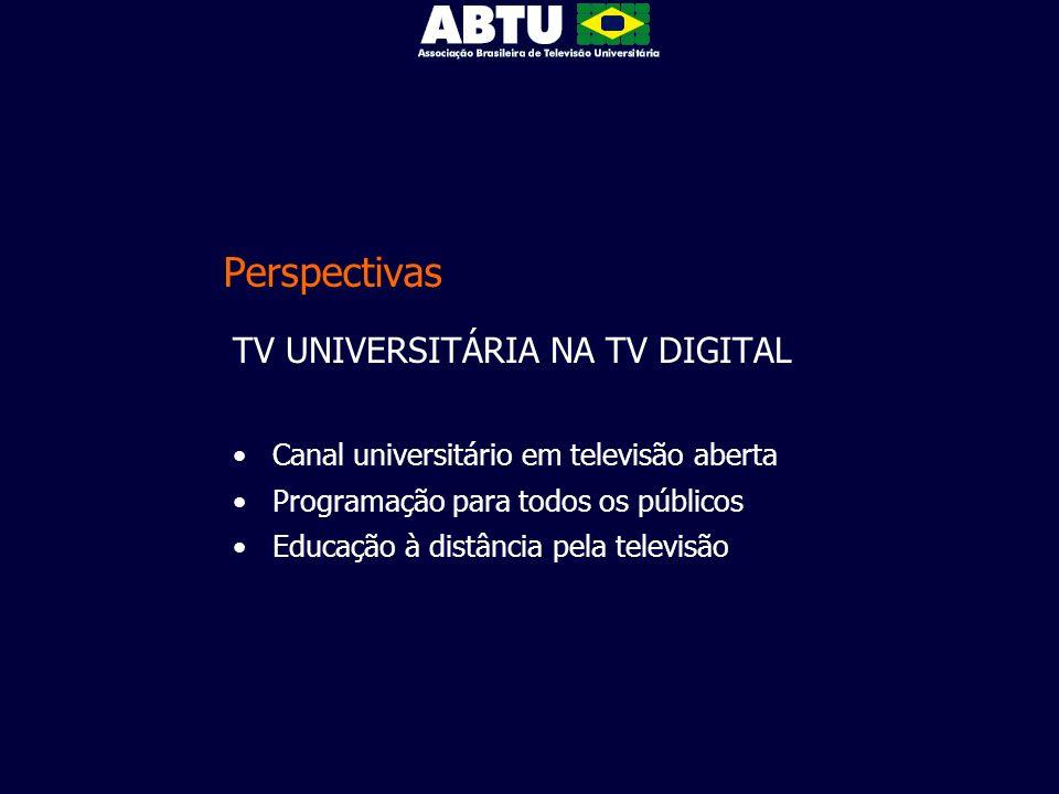 Perspectivas TV UNIVERSITÁRIA NA TV DIGITAL