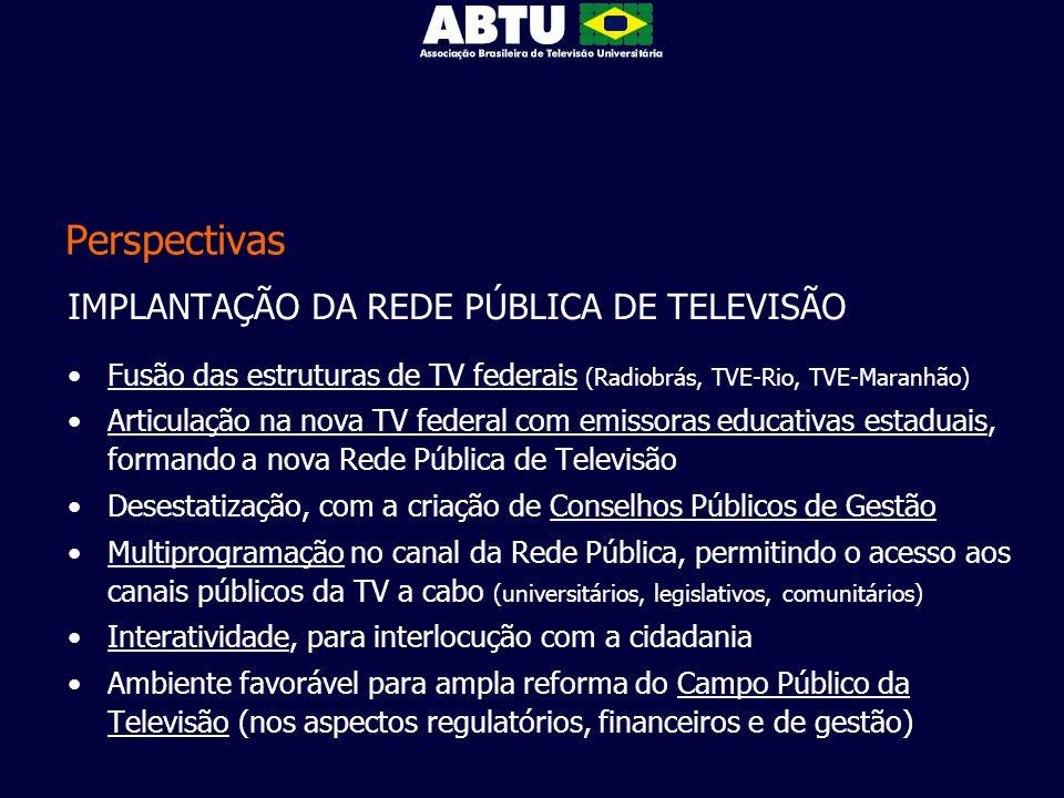 Perspectivas IMPLANTAÇÃO DA REDE PÚBLICA DE TELEVISÃO