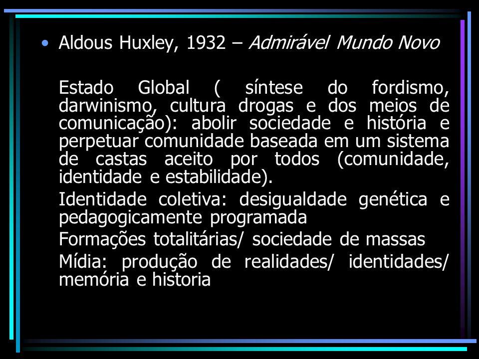 Aldous Huxley, 1932 – Admirável Mundo Novo