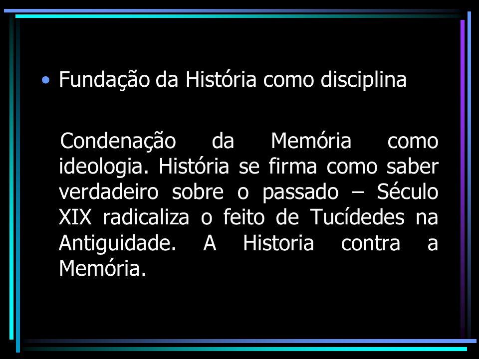 Fundação da História como disciplina
