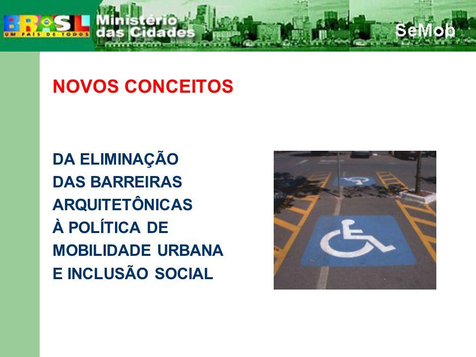 NOVOS CONCEITOS DA ELIMINAÇÃO DAS BARREIRAS ARQUITETÔNICAS
