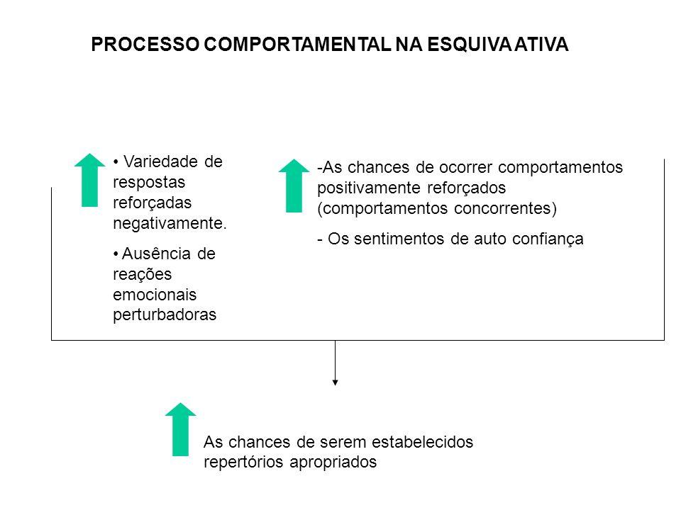 PROCESSO COMPORTAMENTAL NA ESQUIVA ATIVA