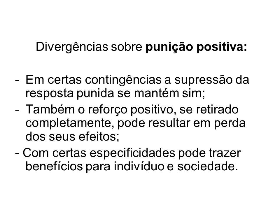 Divergências sobre punição positiva: