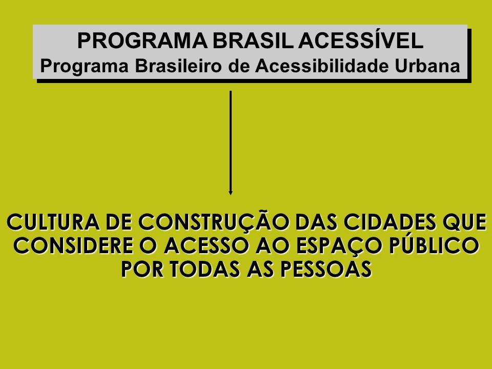 PROGRAMA BRASIL ACESSÍVEL Programa Brasileiro de Acessibilidade Urbana