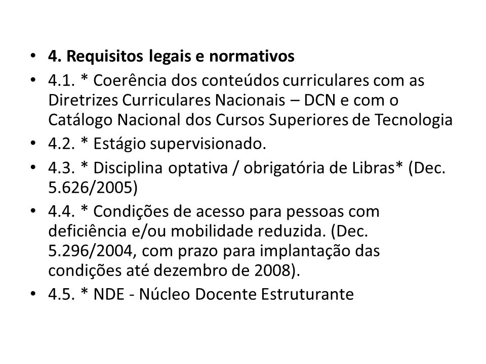4. Requisitos legais e normativos