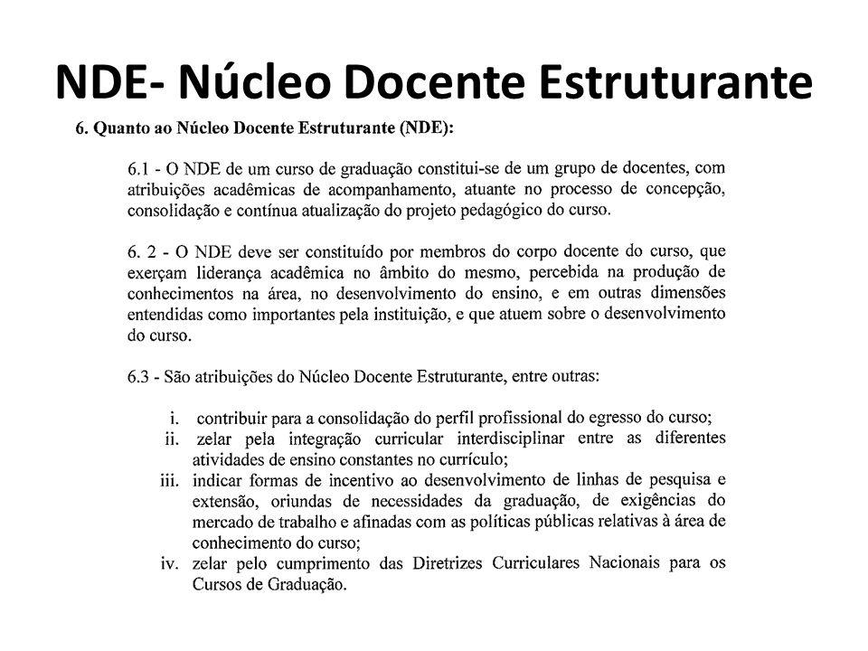 NDE- Núcleo Docente Estruturante