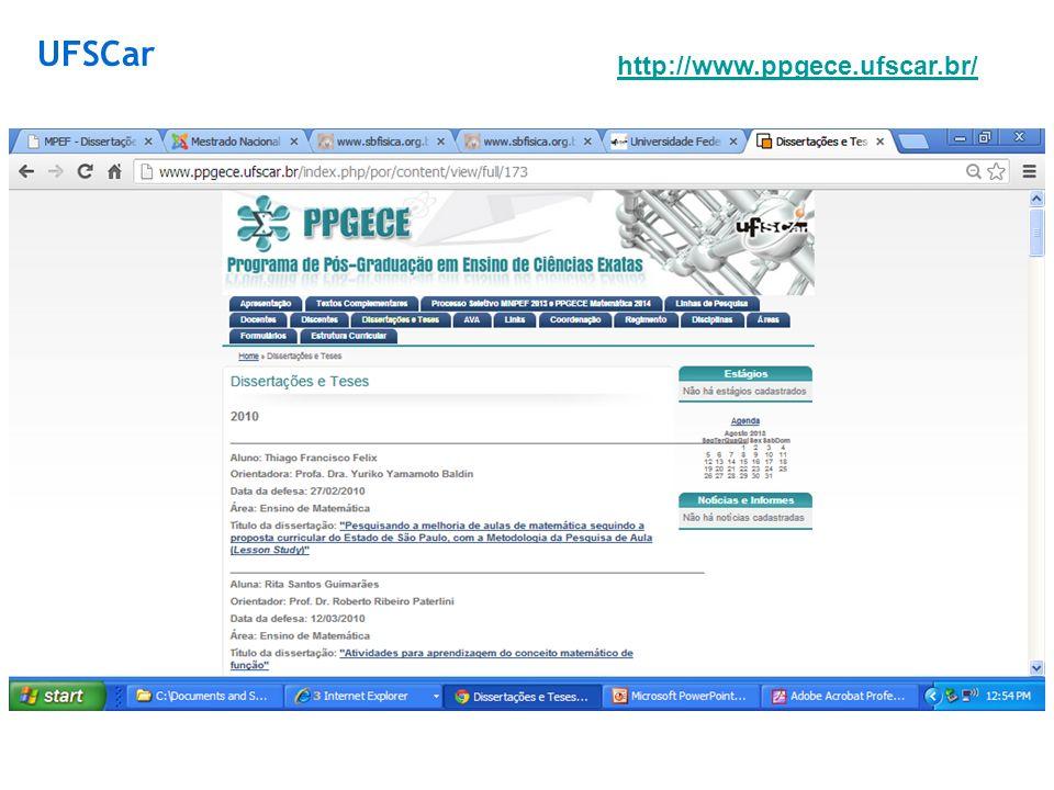 UFSCar http://www.ppgece.ufscar.br/