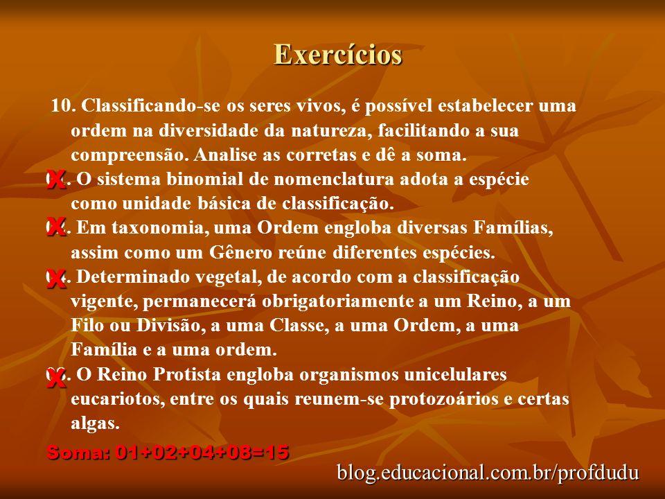 Exercícios X X X X blog.educacional.com.br/profdudu