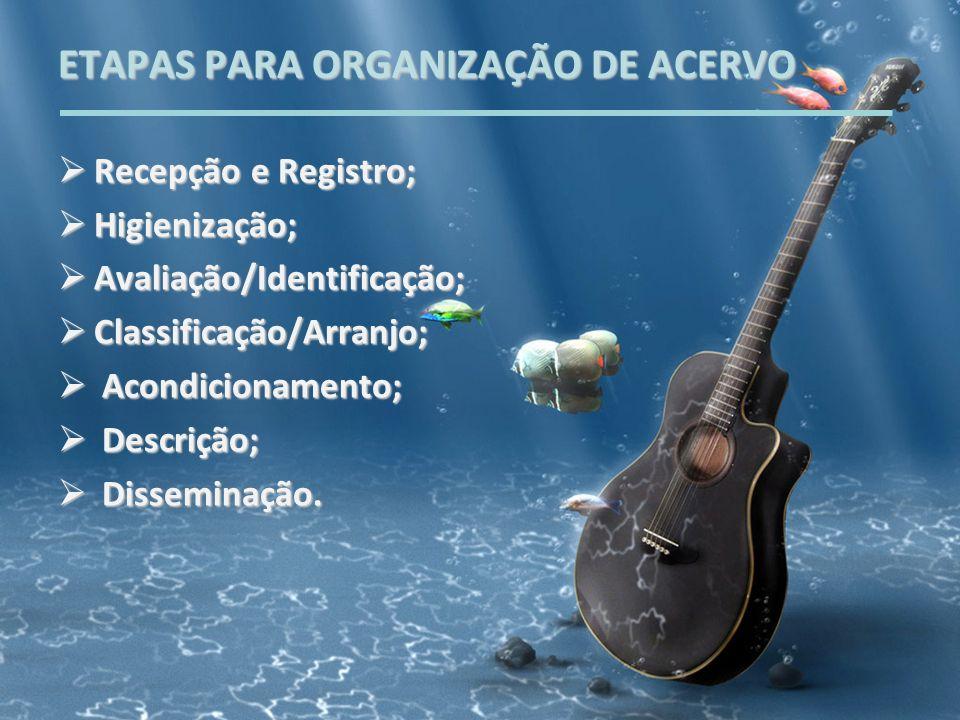 ETAPAS PARA ORGANIZAÇÃO DE ACERVO