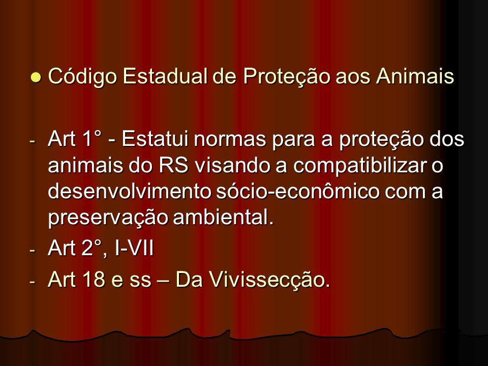 Código Estadual de Proteção aos Animais
