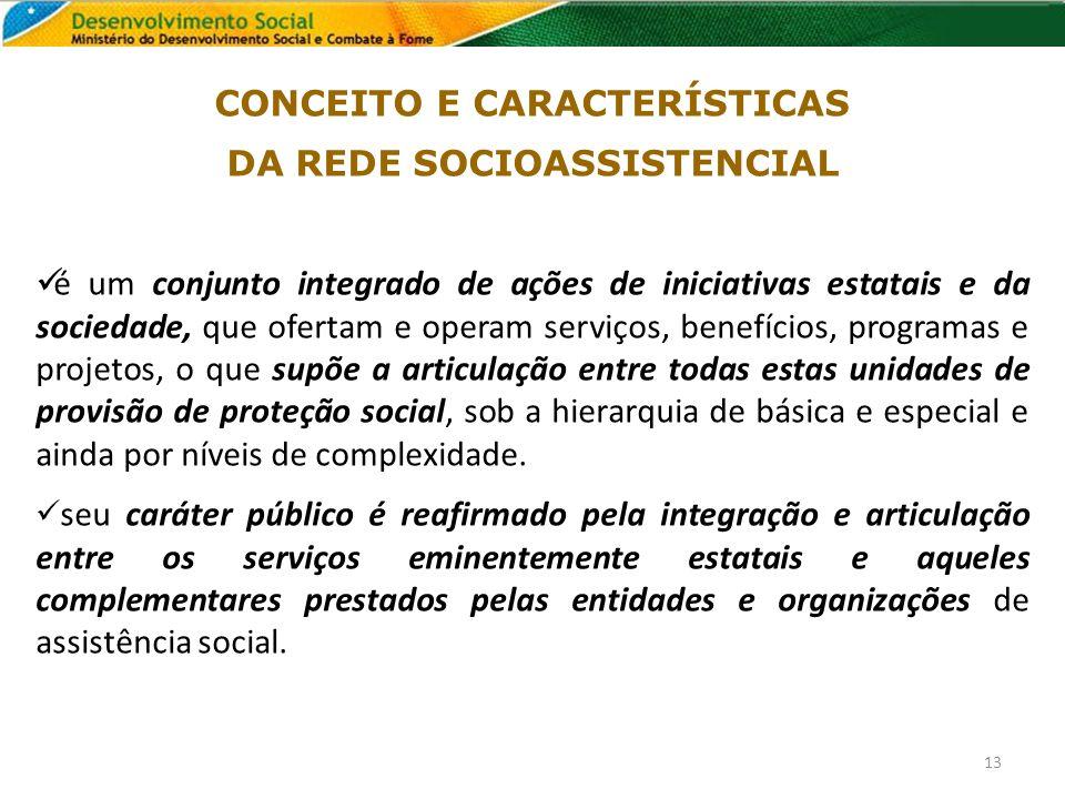 CONCEITO E CARACTERÍSTICAS DA REDE SOCIOASSISTENCIAL