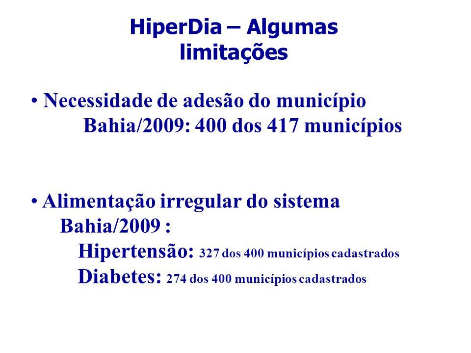 HiperDia – Algumas limitações