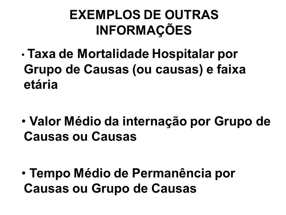 EXEMPLOS DE OUTRAS INFORMAÇÕES