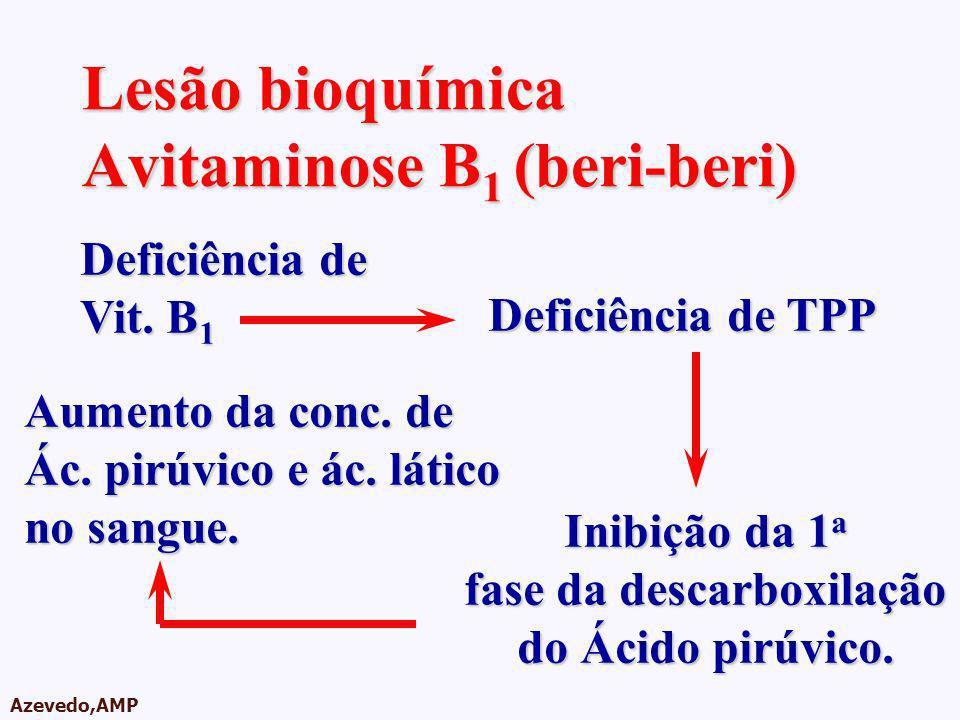 Lesão bioquímica Avitaminose B1 (beri-beri)