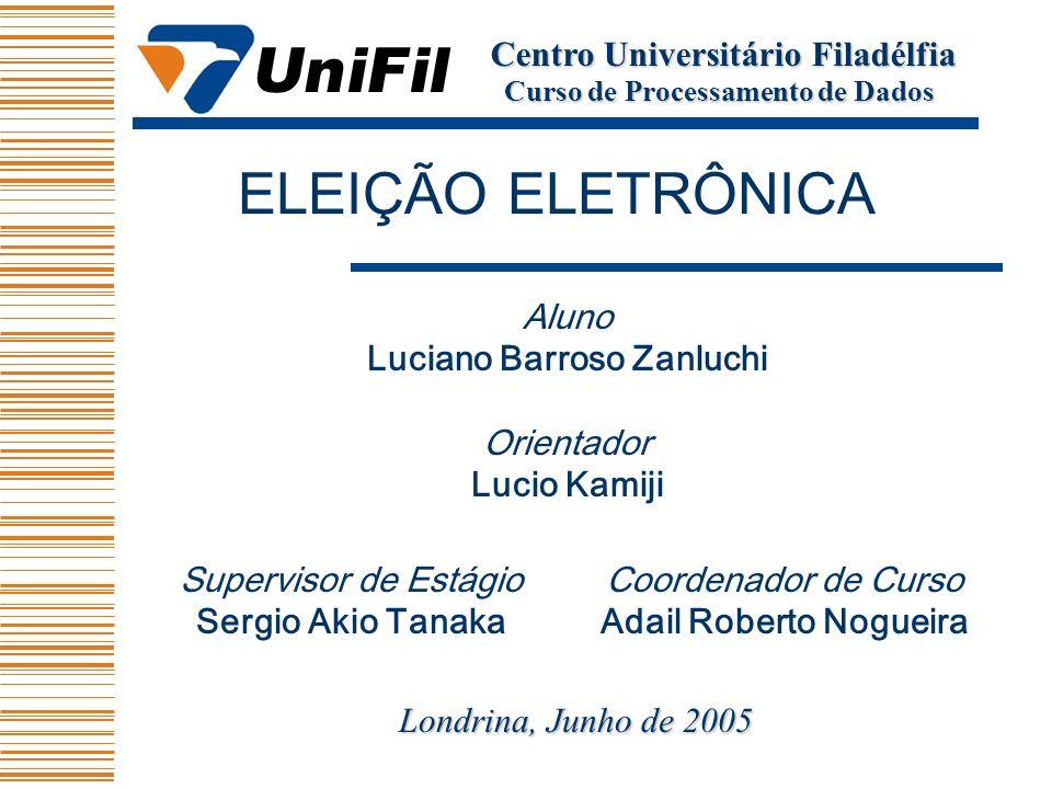 Aluno Luciano Barroso Zanluchi Orientador Lucio Kamiji