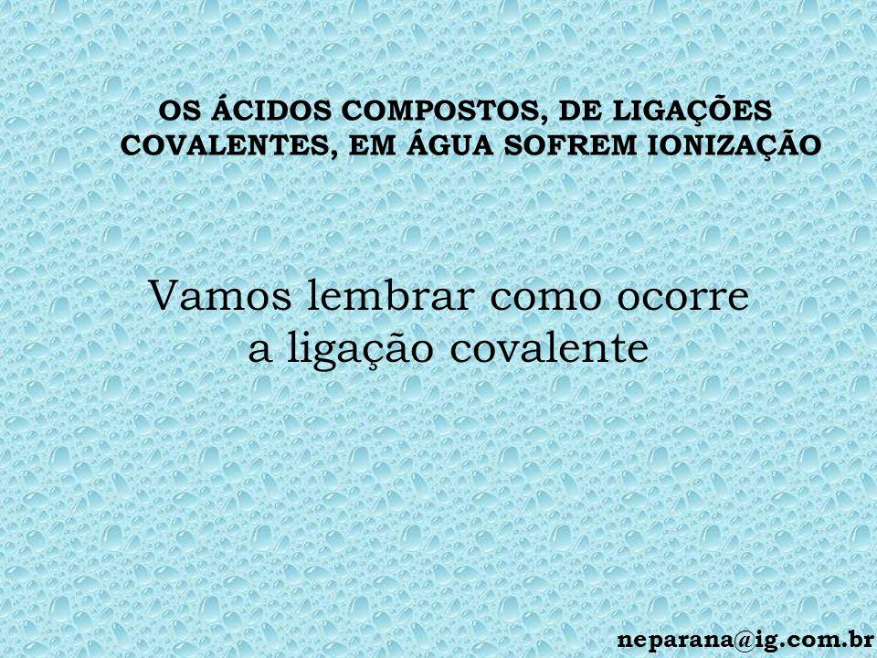 OS ÁCIDOS COMPOSTOS, DE LIGAÇÕES