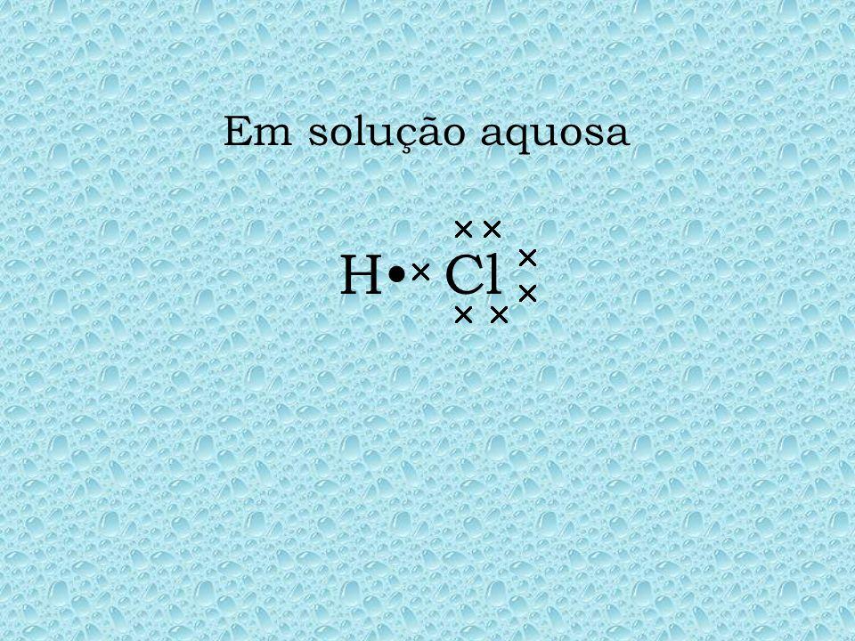 Em solução aquosa Cl  H•