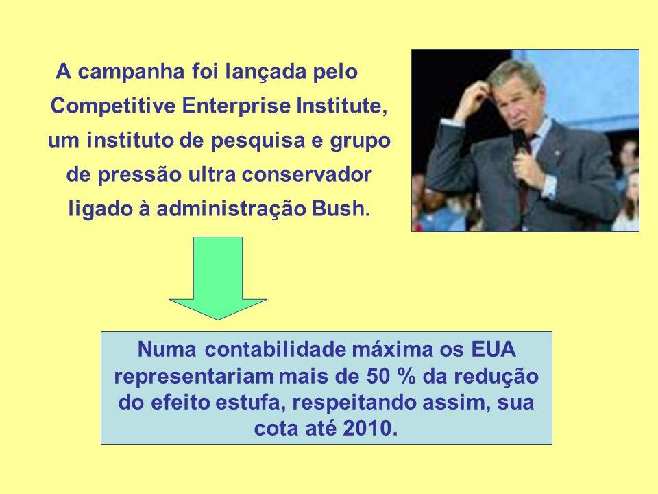 A campanha foi lançada pelo Competitive Enterprise Institute, um instituto de pesquisa e grupo de pressão ultra conservador ligado à administração Bush.