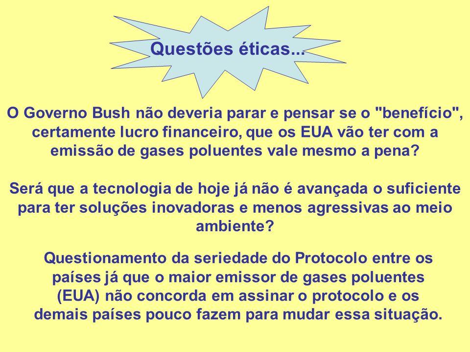 Questões éticas...
