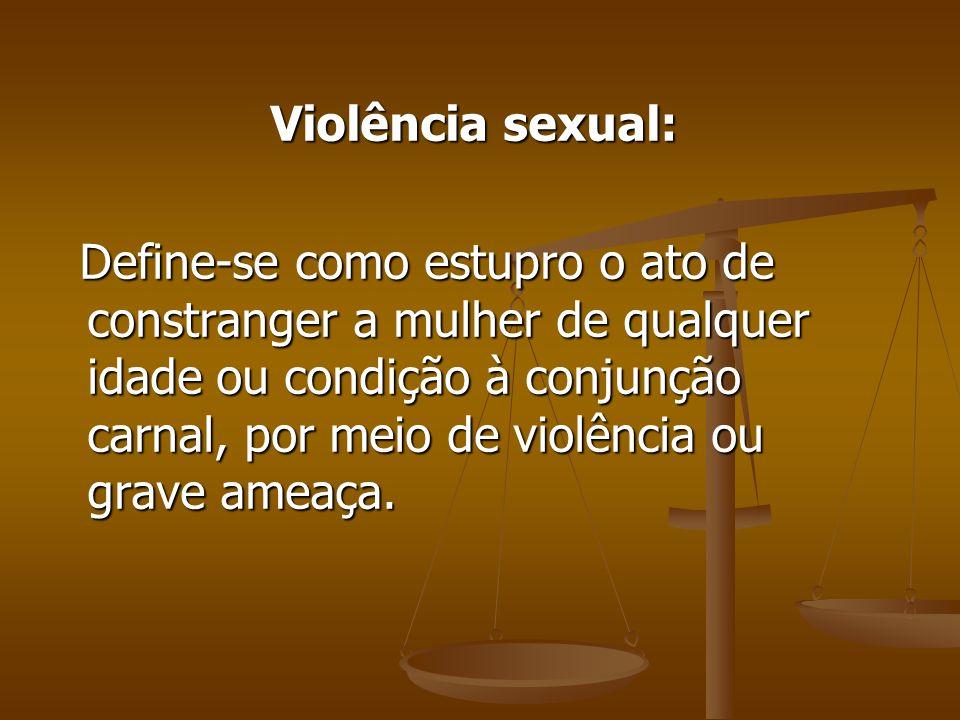 Violência sexual: