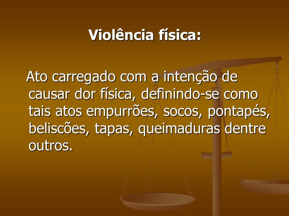 Violência física: