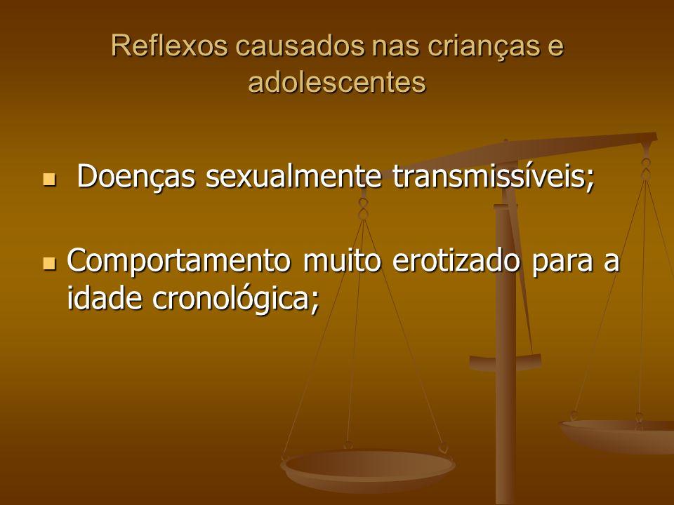 Reflexos causados nas crianças e adolescentes