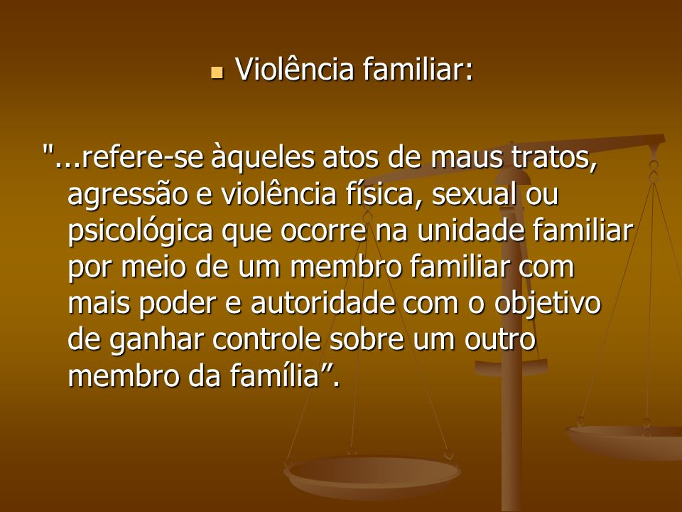 Violência familiar: