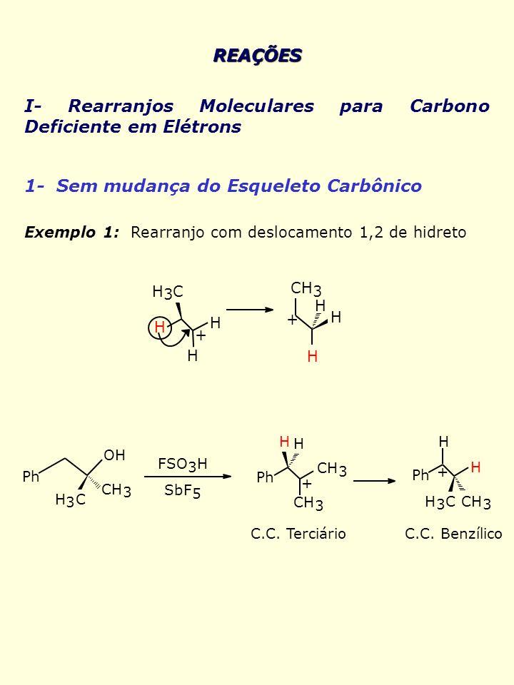 I- Rearranjos Moleculares para Carbono Deficiente em Elétrons
