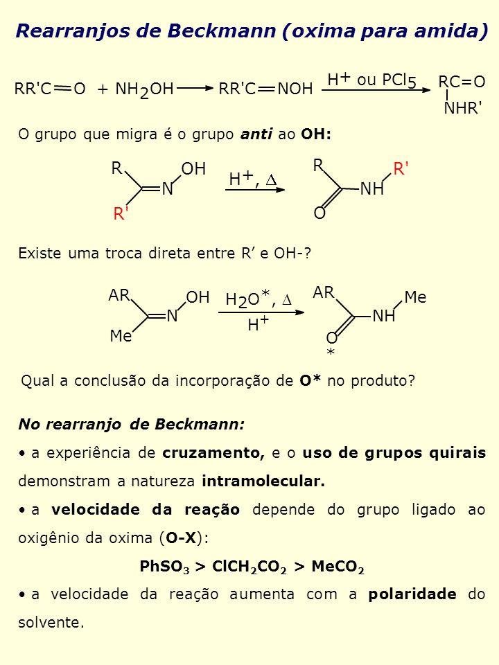Rearranjos de Beckmann (oxima para amida)