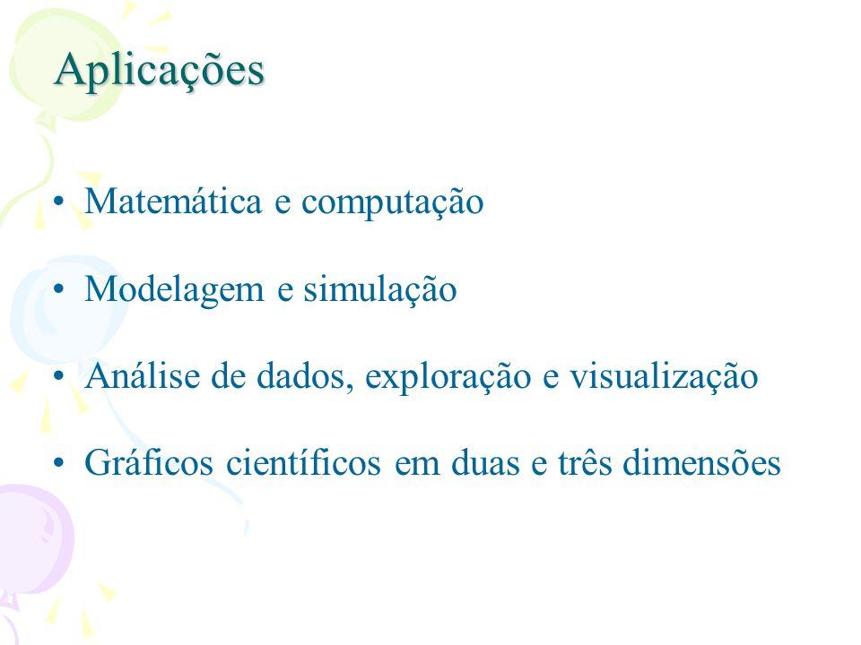 Aplicações Matemática e computação Modelagem e simulação