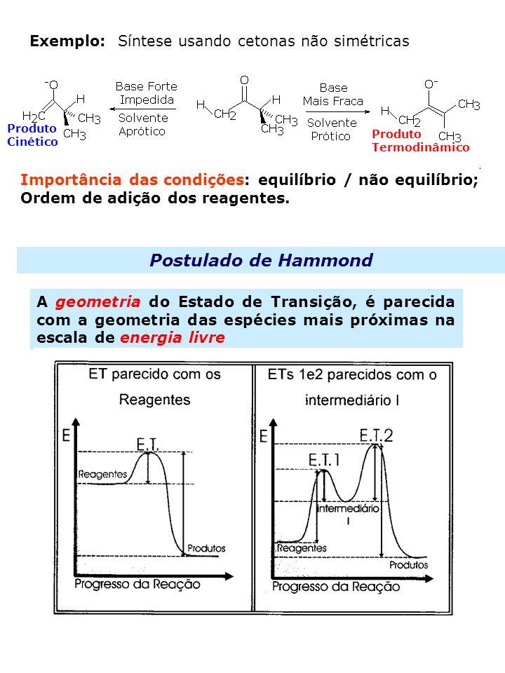 Postulado de Hammond Exemplo: Síntese usando cetonas não simétricas