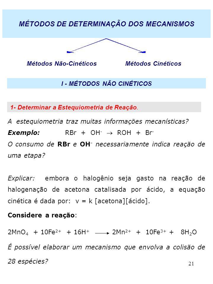I - MÉTODOS NÃO CINÉTICOS