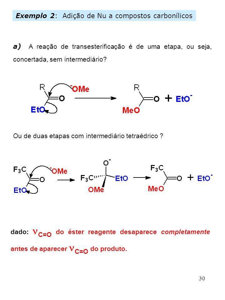 Exemplo 2: Adição de Nu a compostos carbonílicos