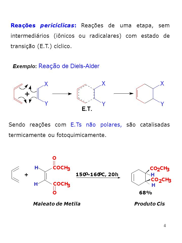 Exemplo: Reação de Diels-Alder