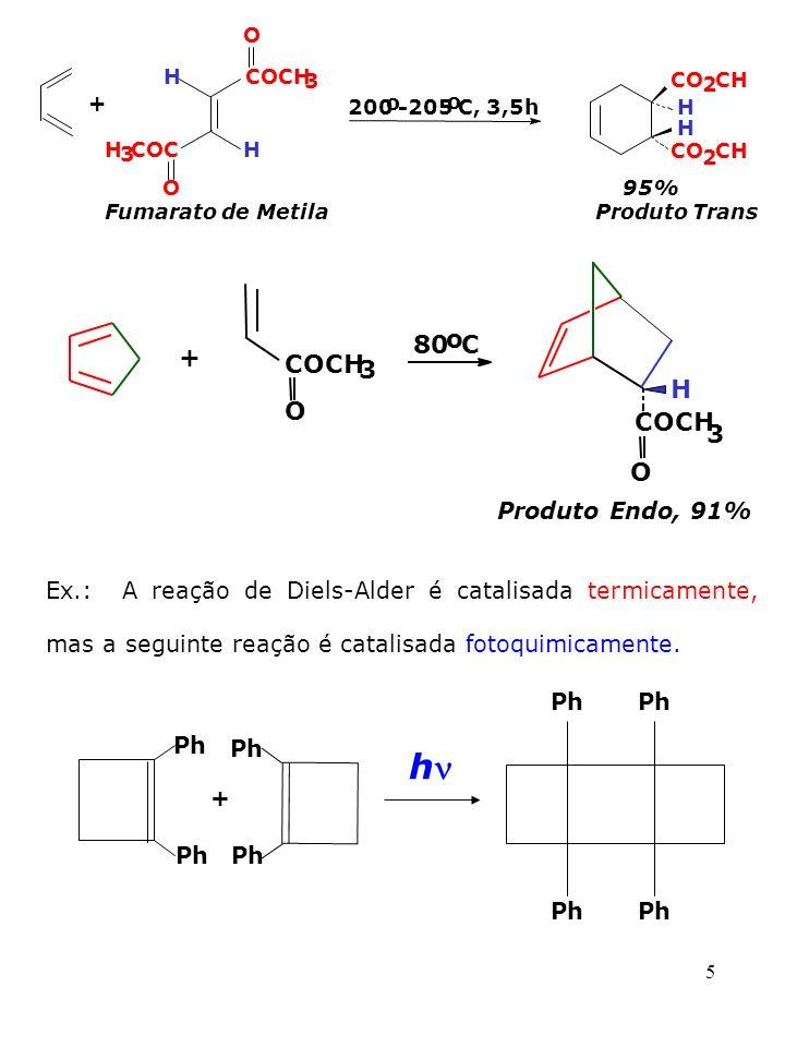 Produto Endo, 91% h + 80 o C + COCH 3 H O COCH 3 O