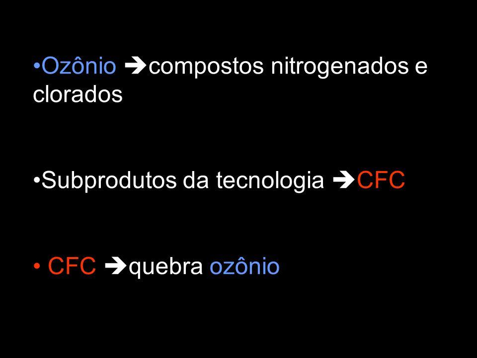 Ozônio compostos nitrogenados e clorados