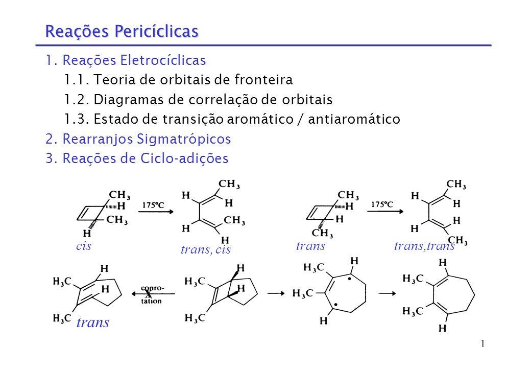 Reações Pericíclicas x trans 1. Reações Eletrocíclicas