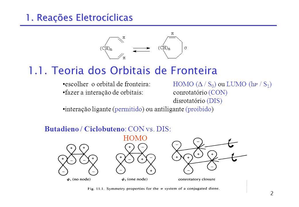 1. Reações Eletrocíclicas