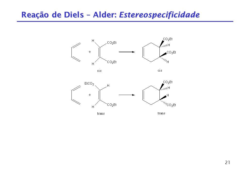 Reação de Diels – Alder: Estereospecificidade