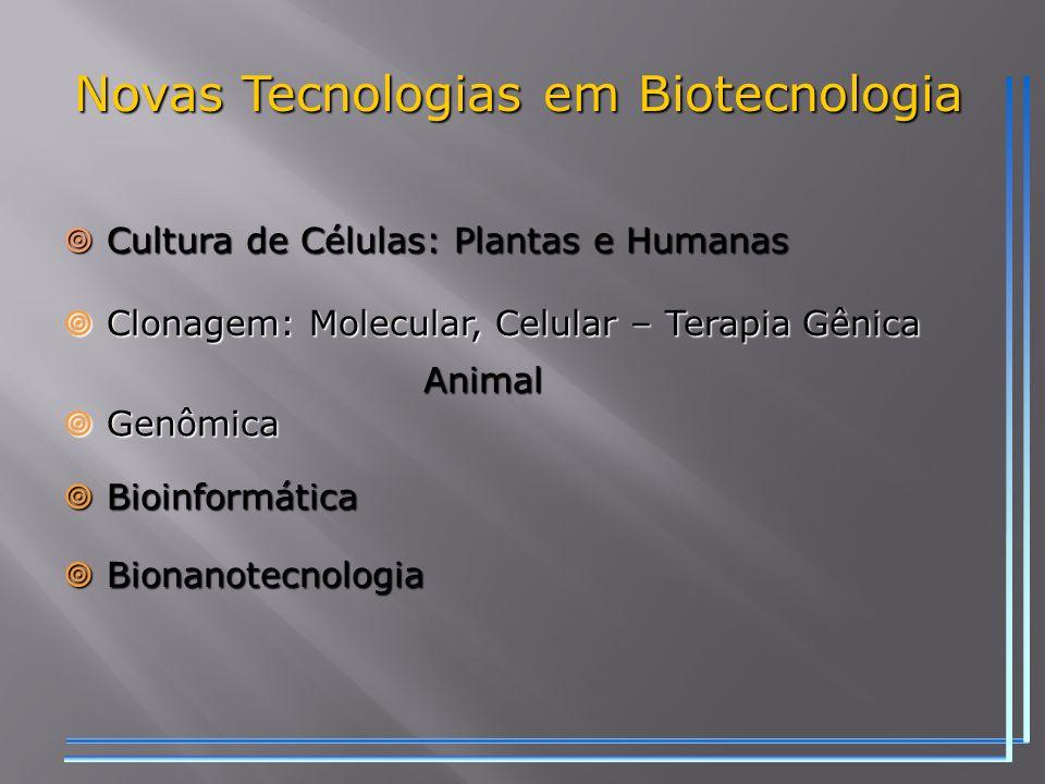 Novas Tecnologias em Biotecnologia