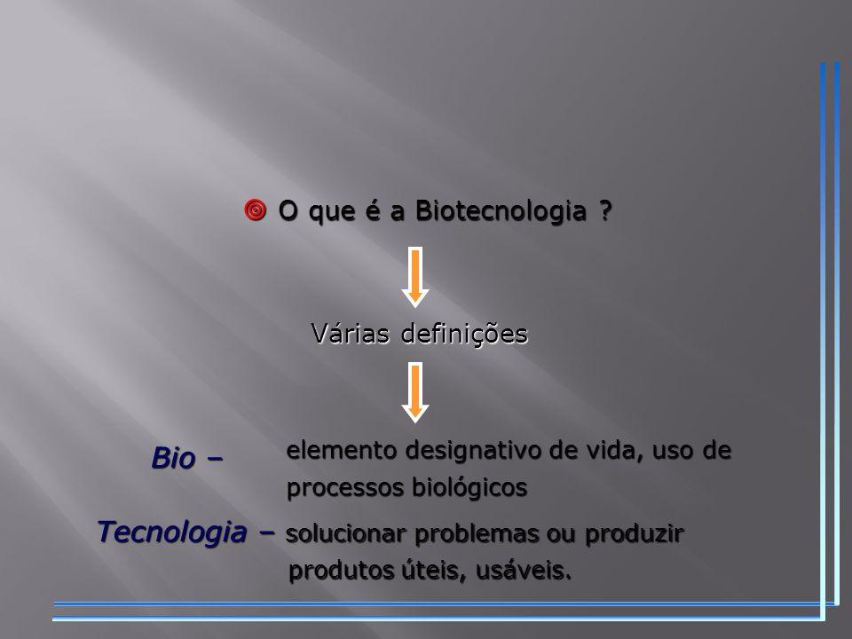  O que é a Biotecnologia