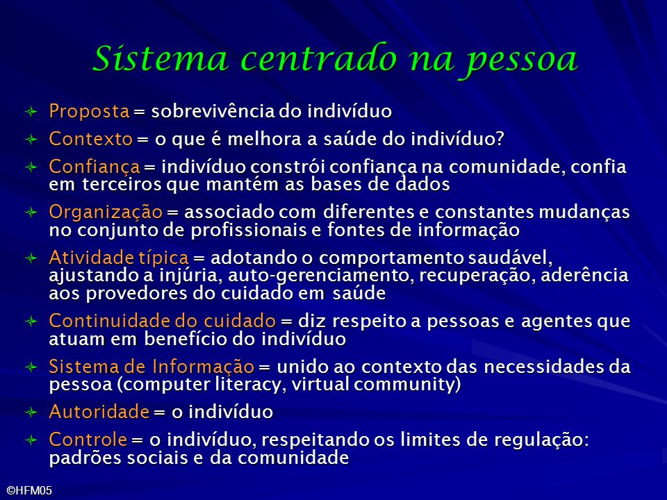 Sistema centrado na pessoa