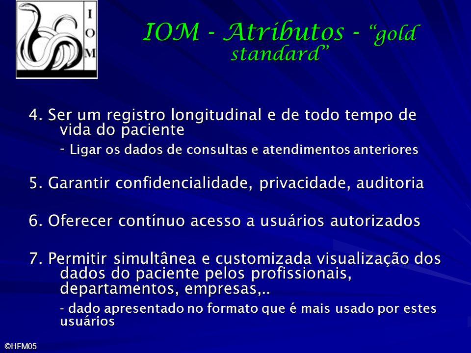 IOM - Atributos - gold standard