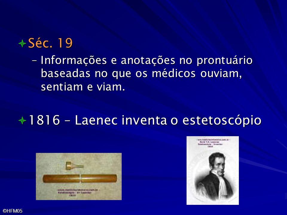 1816 – Laenec inventa o estetoscópio